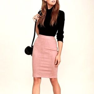 Pink Suede Skirt NWT